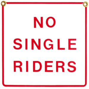 No Single Riders