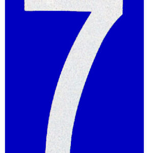 Reflective Number 7 – 25 Same Number Per Pack